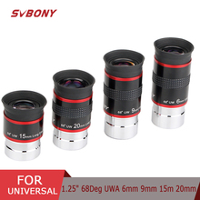 "SVBONY telescope Eyepiece FMC 1.25"" 68 Degree Ultra Wide Angle 6mm 9mm 15m 20mm for Astronomical Telescope Monocular Eyepiece"