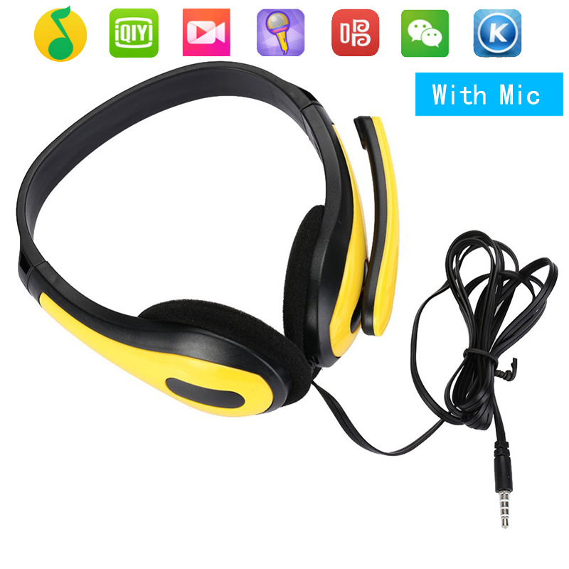 Fashion On Ear Headset Gamer Stereo Deep Bass Gaming Headphones Earphone With Microphone For Computer PC Laptop Notebook