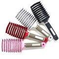 Расческа для волос, расческа для массажа головы, натуральная щетина, кудрявые расчески для укладки волос, кисть для парика, влажная щетка