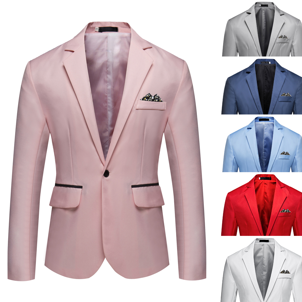 2020 New Fashion Autumn Men Blazer Long Sleeve Solid Color Slim Man Casual Thin Suits Jacket Office Blazers Plus Size 5XL