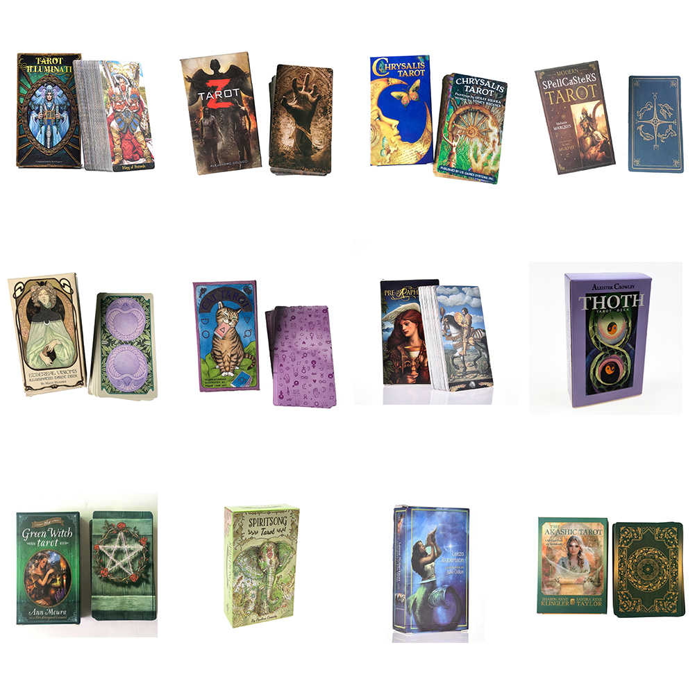 Tarot Kaarten Oracle Begeleiding Waarzeggerij Fate Tarot Dek Board Games Engels Voor Familie Gift Party Speelkaart Spel Entertainment