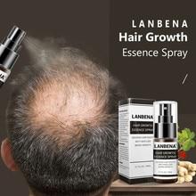 LANBENA Hair Growth Essence Spray Germinal Hair Growth Serum  Anti Hair Loss Nourish Roots Easy To Carry Hair Care for Men Women