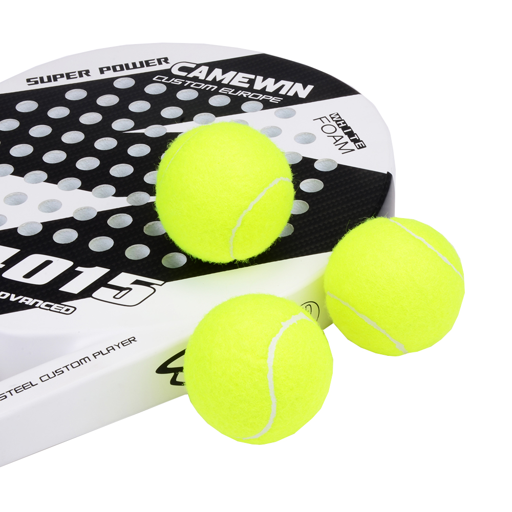 3 PCS Professional Rubber Padel Balls High Resilience Durable Tennis Practice Ball For School Club Competition Training