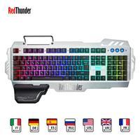 RedThunder K900 RGB Backlight Wired Gaming Keyboard 25 Keys Anti ghosting Ergonomics Keyboard for Desktop Gaming and Typing