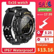 Neue EX16 Sport Bluetooth Smart Uhr Xwatch 5ATM IP67 Wasserdichte Smartwatch Schrittzähler Stoppuhr Wecker LANGE STANDBY