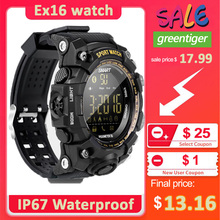 New EX16 Sport Bluetooth Smart Watch Xwatch 5ATM IP67 Waterproof Smartwatch Pedometer Stopwatch Alarm Clock LONG TIME STANDBY