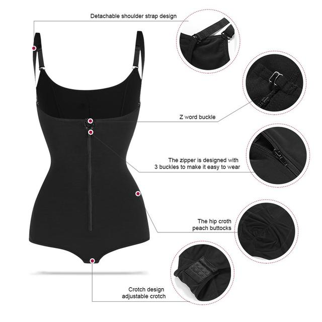 2020 New Arrival Bodysuits Sexy Shapewear Waist Trainer Butt Lifter Slim Shaper Invisible Bodysuit with Straps Firm Control Body 5
