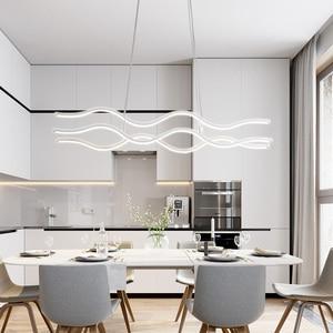Image 3 - מינימליסטי מודרני LED תליון אורות חדר אוכל סלון תליית Hanglampen השעיה תליון מנורת מתקן משלוח דואר