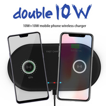 20W Wireless Charger 2 in 1 Dual 10W Fast Charging Pad Qi Quick for iPhone XR XS X 8 Samsung S10 S9 Airpods 2 Dock Station