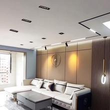 Nowoczesny wysoki komfort wizualny 12W światła do sufitu domu reflektory LED Anti Glare białe czarne wykończenia do salonu biuro sklepu tanie tanio ourving CN (pochodzenie) Przemysłowe Aluminium Żarówki led OW-OLDL5 OW-HYLDL5 iron 220 V-240 V Foyer Modern LED Spotlight