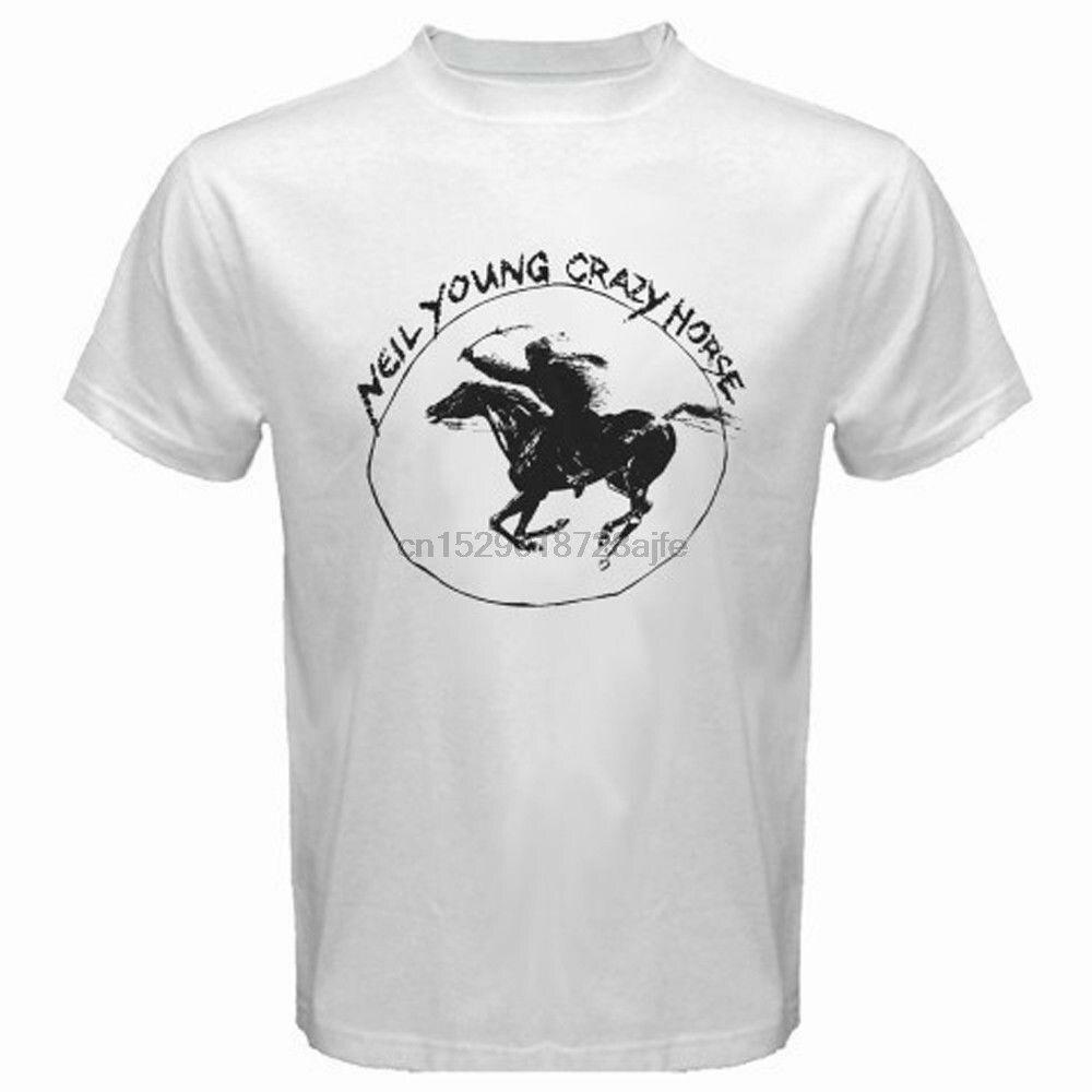 NEIL YOUNG CRAZY HORSE *Ragged Glory Rock Legend Men/'s Black T-Shirt Size S-3XL