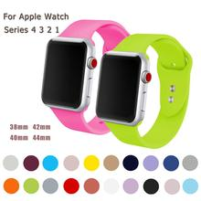 Colorful Soft Silicone Accessories Sport For Apple Watch Band 4 44mm 40mm Wrist Bracelet Strap iWatch Series 3 2 1 42mm 38mm