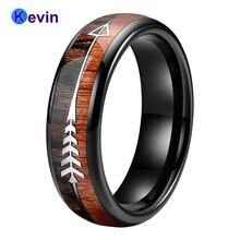 Черный обручальное кольцо для мужчин и женщин вольфрамовый свадебный
