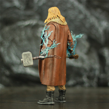 Avengers Endgame Fat Thor with Mjollnir Hammer and StormBreaker Axe Action Figure 7inch. 2