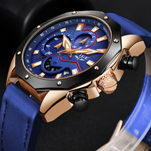 LIGE New Mens Watches Top Brand Luxury Business Quartz Watch For Men Blue Leather Waterproof Sport Chronograph Relogio Masculino 2018 lige mens watches business top luxury brand quartz watch men leather dress waterproof sports chronograph relogio masculino