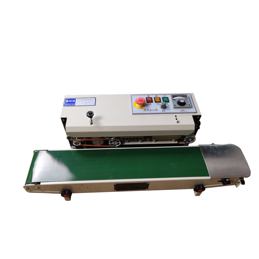 FR-770 automatic continuous film/aluminum foil bag/ moon cake sealing machine/ food and tea packaging machine/sealing machine