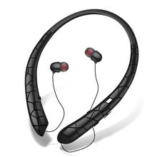 Sports Retractable Wire Handsfree Call Wireless Neckband Bluetooth Headphones Stereo Headset with Mi