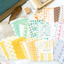 Aesth 50pcs/pack Deco Paper Notes Vintage Paper Supplies for Stationery Scrapbooking Journaling Project vintage Background Paper