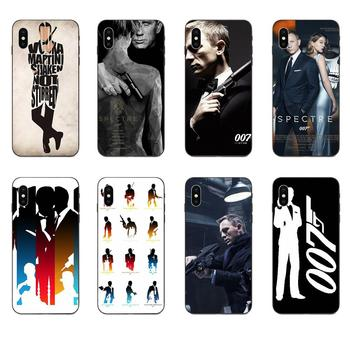 007 James Bond Spectre Skyfall Soft Silicone TPU Black Phone For Apple iPhone 4 4S 5 5S SE 6 6S 7 8 11 Plus X XS Max XR Pro Max