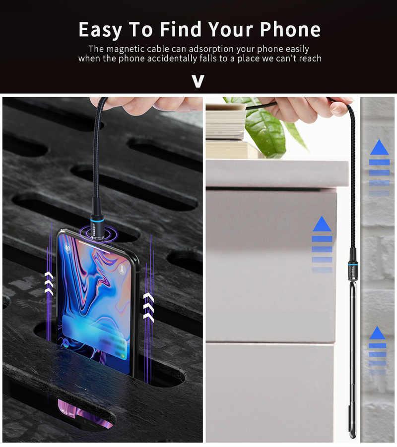 1/2/3m Cable Micro USB magnético para Samsung Huawei teléfono Android carga rápida Cable Micro USB imán adaptador de cargador