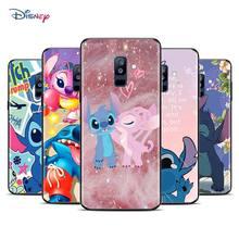 Hoạt Hình Disney Hoạt Hình Lilo Stitch Dành Cho Samsung Galaxy Samsung Galaxy A9 A8 A7 A6 A5 A3 Plus 2018 2017 2016 Ngôi Sao TPU ốp Đen Ốp Lưng Điện Thoại