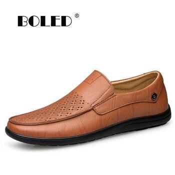 Quality Men Casual Shoes Fashion Men Shoes Genuine Leather Men Loafers Moccasins Slip On Men's Flats Male Driving Shoes genuine leather slip on men loafers dress flats shoes big size 46 luxury brand loafers shoes fashion casual men shoes 8820