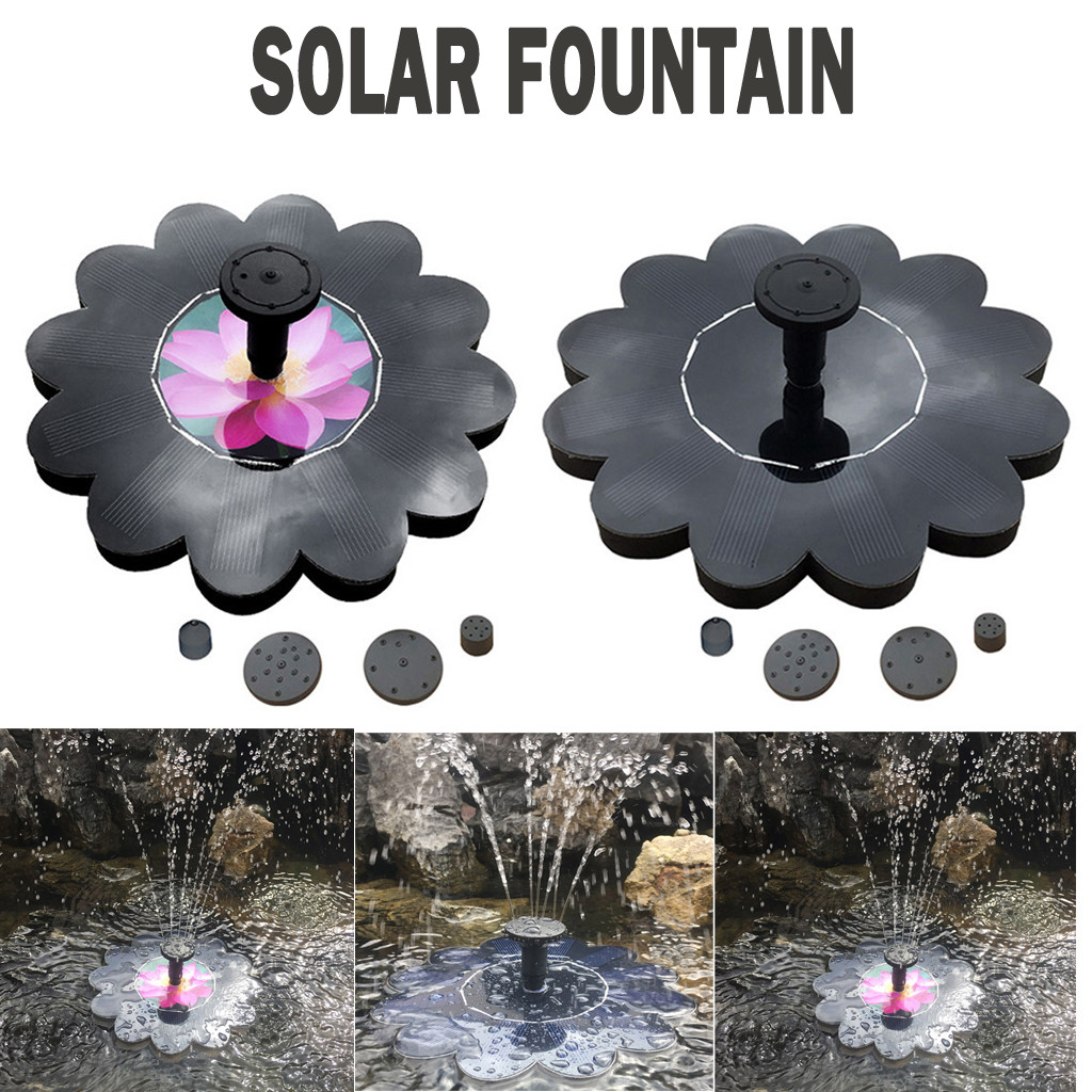 Outdoor Mini Solar Power Water Fountain Garden Pool Pond Solar Panel Bird Bath Floating Water Fountain Garden Decor#30