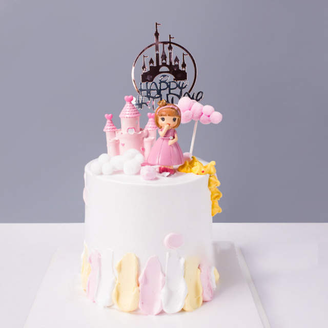 Incredible 5Pcs Baking Cake Decoration Supplies Acrylic Castle Cake Topper Funny Birthday Cards Online Inifofree Goldxyz