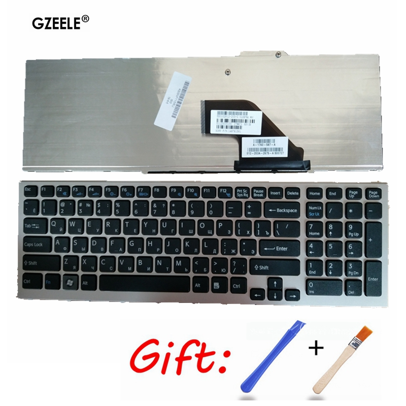 Russian laptop keyboard for SONY Vaio PCG-81113L PCG-81112M 81113M 81212M 81213M VPC-F VPC-F11 VPC-F119 F11 F119 F138 silver New