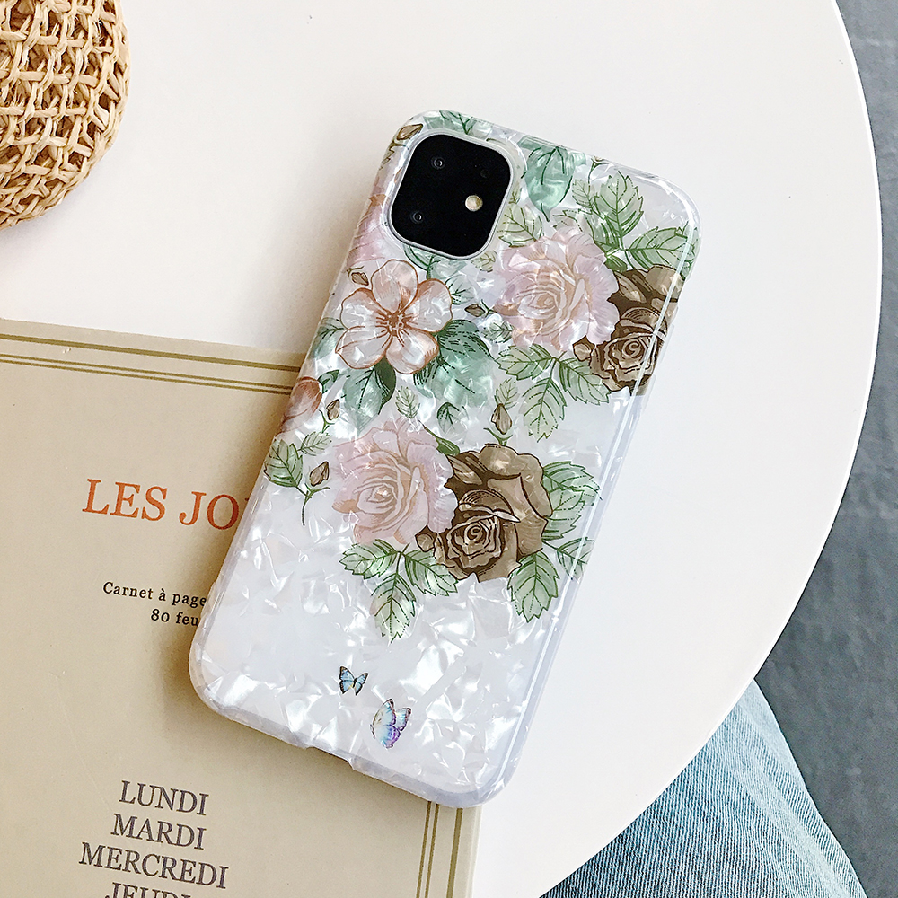 LOVECOM Retro Floral Ring Stand Phone Case For iPhone Models 24