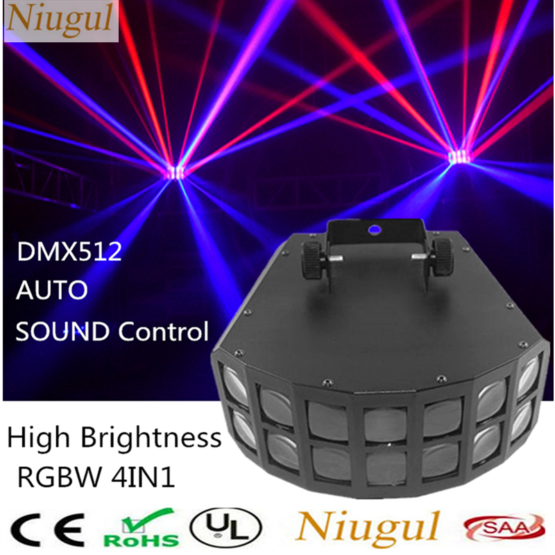 RGBW LED Double Butterfly Light/DMX512 Derby Club Party Stage Lights/Beam Effect Stage Lighting/Disco DJ KTV Decoration LED Lamp