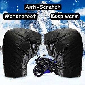 Image 2 - Motosiklet el gidon eldiven 35x26cm kış kalınlaşmak isıtıcı motosiklet/Scooter gidon kavrama Muffs su geçirmez rüzgar geçirmez