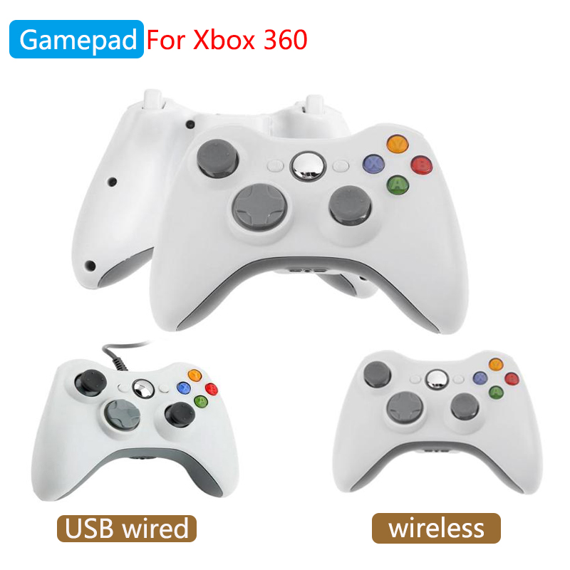 Game Controller for Xbox 360 Wireless USB Wired Gamepad for PC Windows or Xbox 360 Slim Bluetooth Gamepad for Microsoft Xbox 360 image
