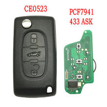 Автомобильный пульт дистанционного управления Datong World для Peugeot 407 408 307 308 607 Citroen C2 C3 C4 C5 ID46 PCF7941 Chip 433 ASK автоматический умный сменный ключ