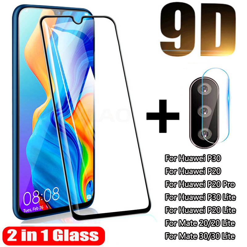 9D Tempered Glass For Huawei P30 P20 Lite Pro Mate 20 30 Lite Camera Lens Screen Protector For Huawei P30 Lite Protective Glass