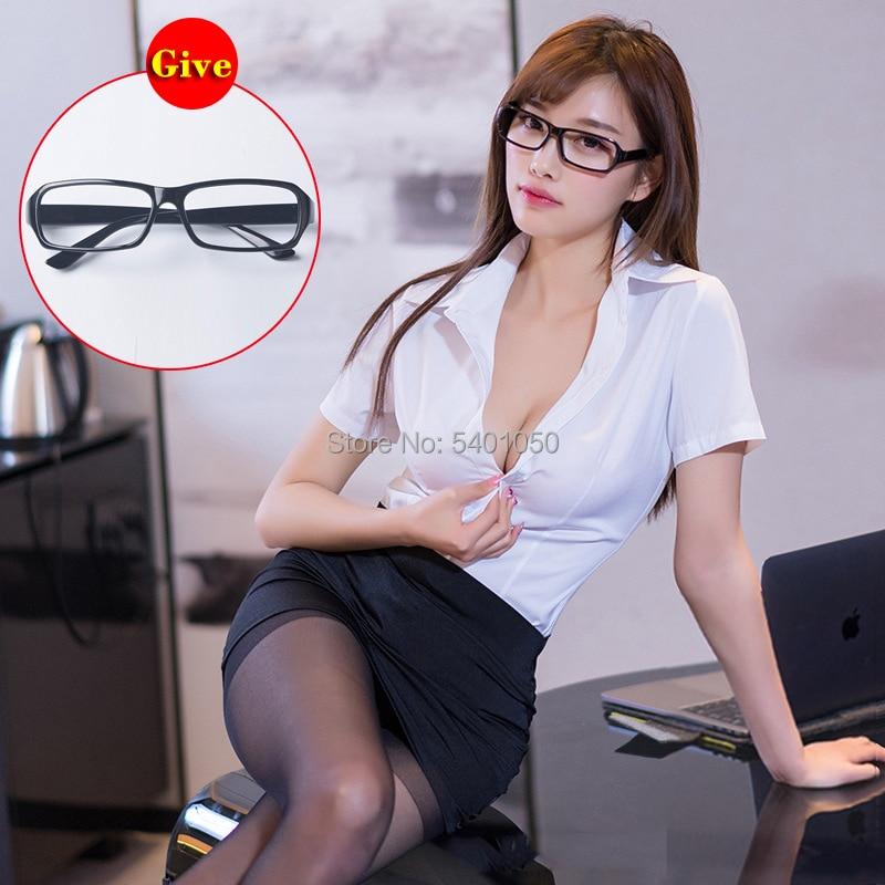 Sexy Rock für Sexy Dessous Erotische büro Kostüme Frauen Sexy Sekretärin Outfit Büro Uniform Cosplay Kostüm Schule Lehrer