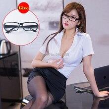 Seksowna spódnica dla seksownej bielizny erotyczne kostiumy biurowe kobiety seksowna sekretarka strój mundur biurowy przebranie na karnawał nauczyciel szkoły