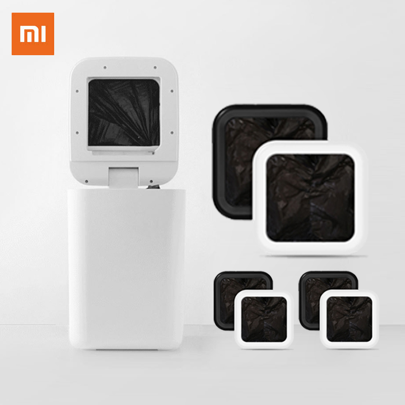 6Pcs/Lot Xiaomi Trash Bag Dedicated To Smart Trash Cans Rubbish Bag High Quality And Environmental Friendly PP Particle Material