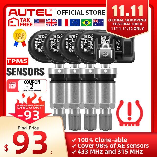 Autel MX Датчик 433 315 МГц TPMS датчик Инструменты для ремонта шин сканер MaxiTPMS Pad монитор давления в шинах тестер Программирование MX Sensor