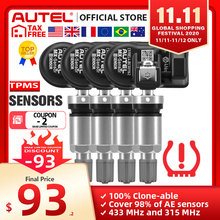 Autel MX Sensor 433 315MHZ TPMS Sensor Tire Repair Tools Scanner MaxiTPMS Pad Tire Pressure Monitor Tester Programming MX Sensor