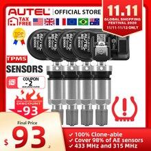 Autel MX Sensore 433 315MHZ TPMS Sensore Sensore di Strumenti di Riparazione Pneumatici Scanner di Assistenza MaxiTPMS Pad Pressione Dei Pneumatici Monitor Tester di Programmazione MX Sensore