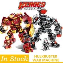 76013 76015 Marvel Iron man Hulk buster War Machine Building Blocks  Super Heroes Avengers Infinity War Children Kids Toys Gifts цена 2017