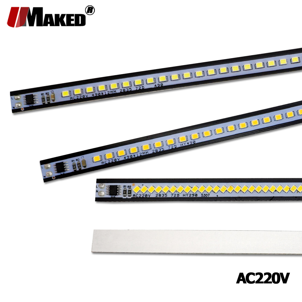 X5 X10 X20Pcs LED Bar Light AC220V 10cm 20cm 30cm 50cm SMD2385 Warm Natural Cold White Kitchen Under Cabinet LED Strip Bar Light