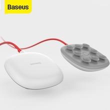 Baseus cargador inalámbrico de succión para iPhone X, Xs, Max, XR, Samsung Note 9, S9, diseño de carga inalámbrica para juegos, Cable incorporado