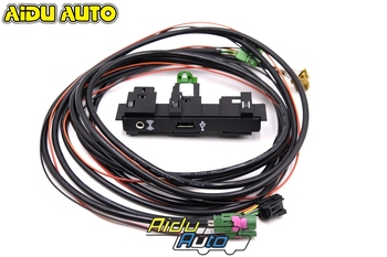 AIDUATO For MQB Touran Tiguan MK2 VW CarPlay MDI USB AMI Install Plug Socket Switch Button Harness 5Q0 035 726E