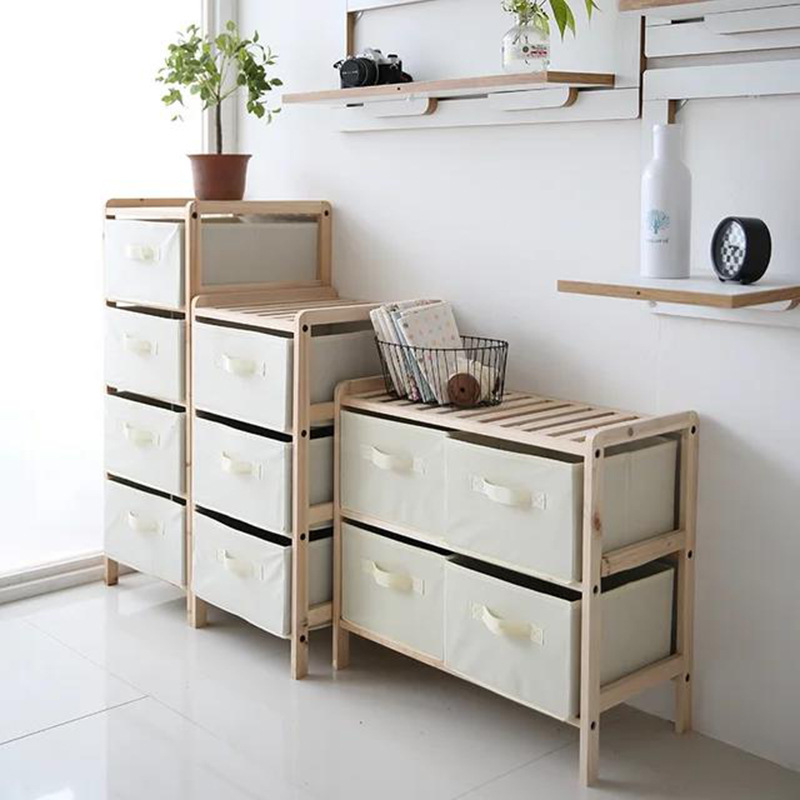 4 Drawers Dresser Furniture Storage Tower Organizer with Easy Pull Fabric Bins Chest Of Drawers for Bedroom Hallway Closets