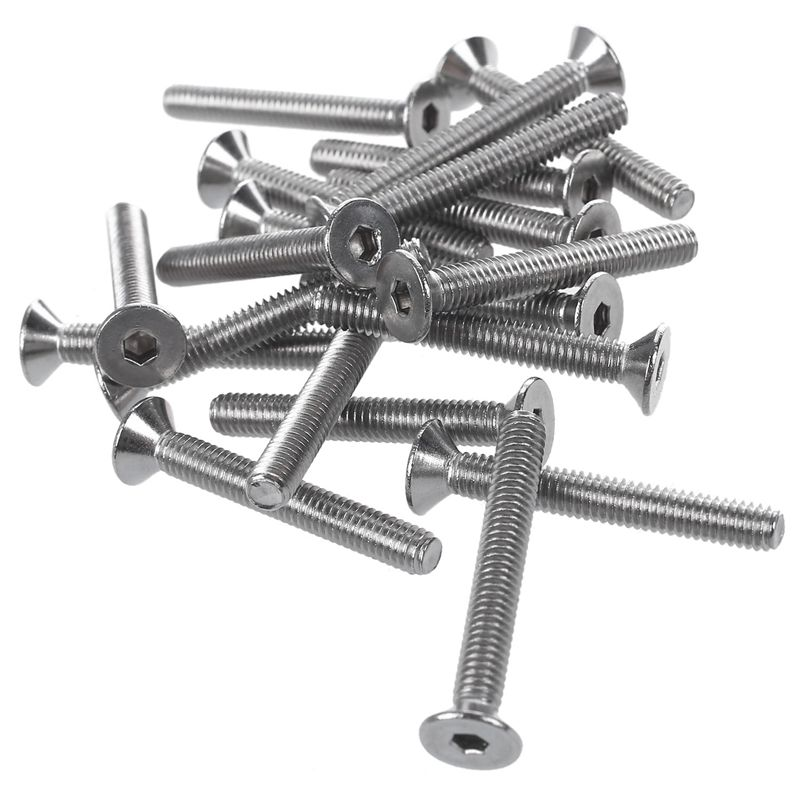 20 Pcs Stainless Steel Countersunk Screws, Hexagon Socket Hex Key Bolts M4 x <font><b>30mm</b></font> image