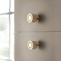 Gold Luxus Tür Griffe Zink Legierung Schrank Griff Schublade Knöpfe Europäischen Kleiderschrank Zieht Küche Möbel Griff-in Schrankgriffe aus Heimwerkerbedarf bei
