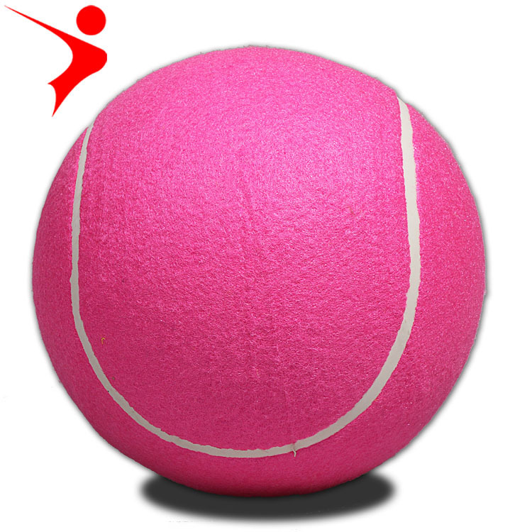 Regail 8-Inch Inflatable Tennis Signature Tennis Customizable Color Inflatable Tennis Rose Red Pet Toy