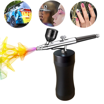 Rechargeable Portable Dual Action Airbrush Kit  Wireless Air Compressor Spray Gun Makeup Art Nail Cake Temporary Tattoo Machine best portable mini auto replace battery makeup nail art tattoo paint airbrush compressor kit